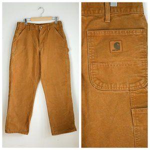 Carhartt Brown Denim Wide Relaxed Leg Pants